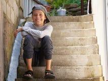 Happy teenager outdoors royalty free stock photos