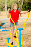 Happy teenager on the playground Stock Image