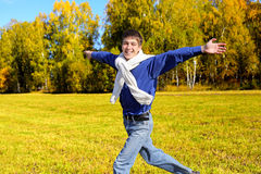 Happy teenager running Royalty Free Stock Image
