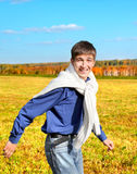 Happy Teenager running Stock Images