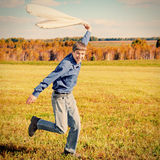 Happy Teenager running Stock Photos