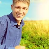 Happy Teenager running Royalty Free Stock Photo