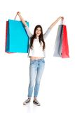 Happy teenager after shopping Royalty Free Stock Photography