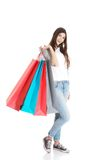 Happy teenager after shopping Stock Photography