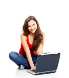 Happy teenager student Stock Images