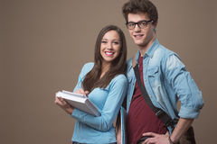 Happy teenager students Royalty Free Stock Photography
