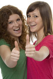 Happy teenager with thumbs up Royalty Free Stock Images