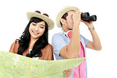 Happy teenager tourist Royalty Free Stock Image