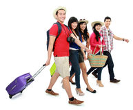 Happy teenager tourists Royalty Free Stock Photography