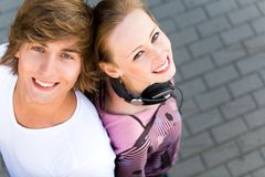 Happy teenagers Royalty Free Stock Photos