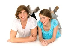 Happy teenagers royalty free stock images