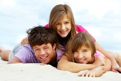 Happy teenagers Royalty Free Stock Image
