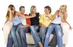 Happy teenagers Stock Photo