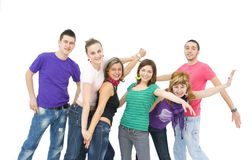 Happy teenagers royalty free stock photo