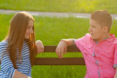Happy teenagers in love Royalty Free Stock Photography