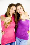 Happy teenagers showing strong friendship and love Royalty Free Stock Photography