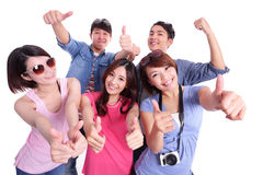 Happy teenagers taking pictures Stock Photos