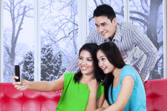 Happy teenagers taking self picture Royalty Free Stock Photo