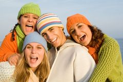 Happy teens Stock Photo