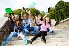 Happy teens Stock Photo