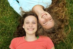Happy teens Royalty Free Stock Photos