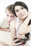 Happy teens couple sharing good moments Stock Photo