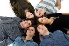 Happy teens group Stock Photo