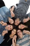 Happy teens group. Happy teens people group  on white background Royalty Free Stock Photography