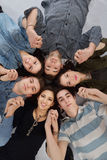 Happy teens group. Happy teens people group  on white background Stock Image