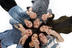 Happy teens group Royalty Free Stock Images