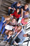 Happy teens group in school Royalty Free Stock Photo
