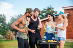 Happy teens having fun at the picnic area Royalty Free Stock Image