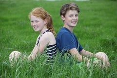 Happy teens Stock Photos