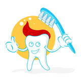 Happy teeth with brush Stock Photography