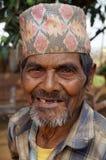 Happy Teeth Less Nepali Man Stock Photo