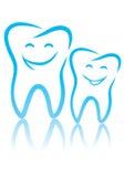 Happy teeth. Vector illustration of happy teeth Stock Photos