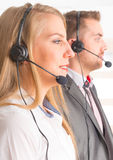 Happy Telephone Operators in call center Stock Photos