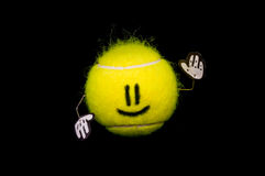 Happy tennis ball Stock Photos