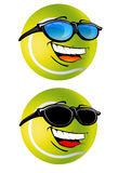 Happy Tennis Ball cartoon Illustration royalty free stock photos