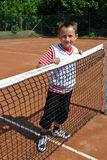 Happy tennis child Stock Images