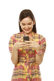 Happy Texter Stock Photography