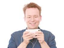 Happy texting Royalty Free Stock Image