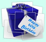 Happy 40th Birthday Gift Displays Age Forty Stock Photos