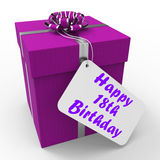 Happy 18th Birthday Gift Shows Celebrating Royalty Free Stock Photography