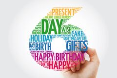 Happy 6th birthday word cloud collage