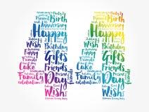 Happy 44th birthday word cloud
