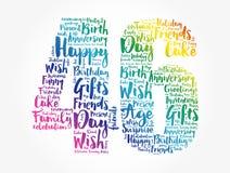 Happy 46th birthday word cloud