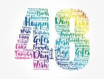 Happy 48th birthday word cloud