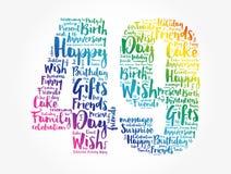Happy 49th birthday word cloud