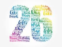 Happy 26th birthday word cloud